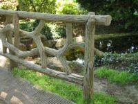 A quiet park area, a pretty fence, Paris