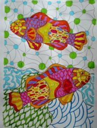 Fun Fish - coloring book