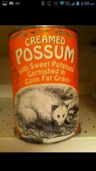 Possum. It's what's for dinner