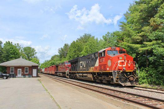 CP 930/NS 30T tied down at Ballston Spa, NY