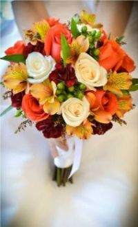 Happiness is....Autumn Bridal Bouquet.