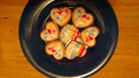 Rainbow cookies for Valentine's Day