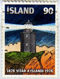 Lighthouse on Stamp (REYKJANES LIGHTHOUSE)