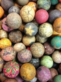 Antique crock marbles