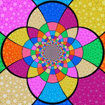 Theme~Square Things~Patterns from a Fat Square Kaleido Fun: Medium