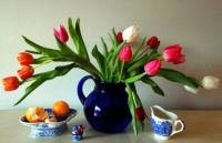 spring bouquet and objects