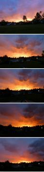 Dramatic skies in sequence