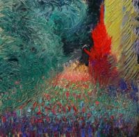 Errol-McKinson, Pathway at Giverny. Oil on Panel 12x12