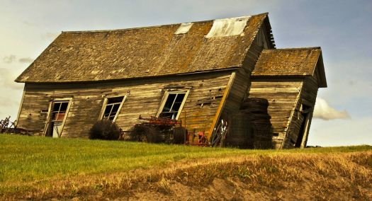 Old One-Room School House~On The Lean