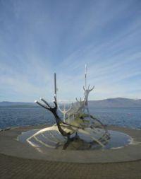 Reykjavik longship sculpture