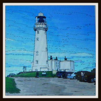 White lighthouse . . . .