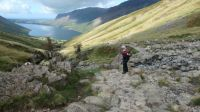 Looking towards Wast Water from Scafell Pike