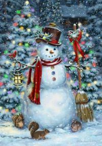 Festive Snowman by Liz Goodrick Dillon