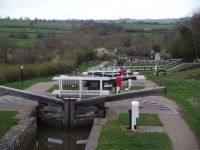 Foxton Staircase Locks on the Grand Union Canal