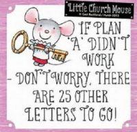 If Plan A...