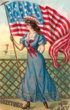 american-flag-july-4th-woman-victorian-postcard
