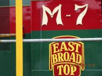 The Christmas logo for East Broad Top Railroad