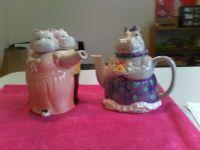 Hippo tea pots