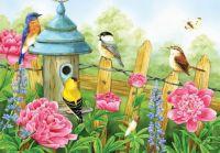Birds and Peonies