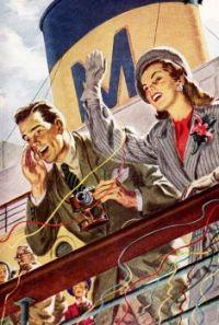 Matson Cruise Ship - 1948