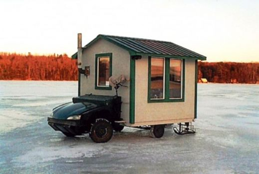 Ice Hut on Wheels