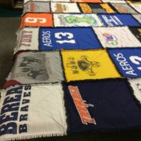 part of a King Size quilt I made from t-shirts