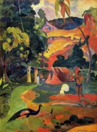 Matamoe aka Landscape with Peacocks_Gauguin, 1892