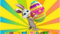 happy easter colorful egg holiday rabbit