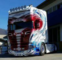 Scania with a wicked paint scheme_01