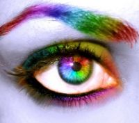colorful eye art