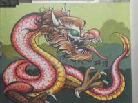 Red Dragon Mural 88