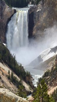 Heaven on Earth lower falls Grand Canyon of Yellowstone National Park