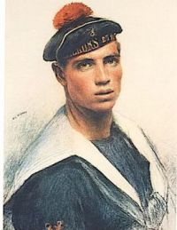 Eugène Burnand  (Swiss, 1850–1921), Ange Orsi (a French fusilier) (1915)