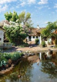 05 Датский художник Peder Mork Monsted (1859-1941)