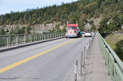 Coming  on to Whidbey Island on Deception Pass Bridge