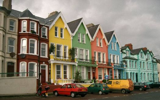 colourful houses in Ireland