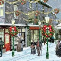 A Vintage Christmas - Walking in Town