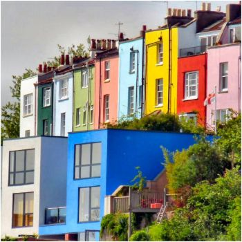 Rainbow of Houses