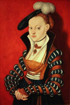 1534 Christiane von Eulenau Lucas Cranach the Elder