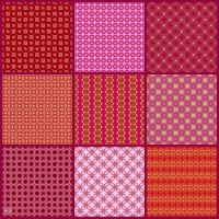 Patterns Made From My Ruby Birthstone Kaleidos!! ~ XL