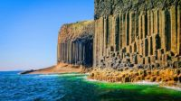 The Fingal's Cave, Scotland ..............
