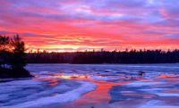 Lake Temagami Sunset at Ice Out