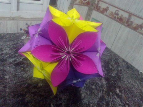 Origami flower my sis-in-law and I made
