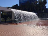 Water feature outside the Lisbon aquarium