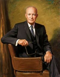Dwight D. Eisenhower. White House portrait painted by James Anthony Wills