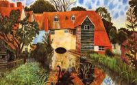 """Mill at Tidmarsh"" by Dora Carrington. She used to live there."