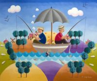 D. Bouttier Art - A Day Fishing!
