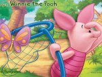 Hunting Butterflies Piglet in Winnie The Pooh