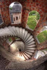 Stairs - Lapalice Castle, Poland