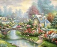Pretty cottages and fliwers